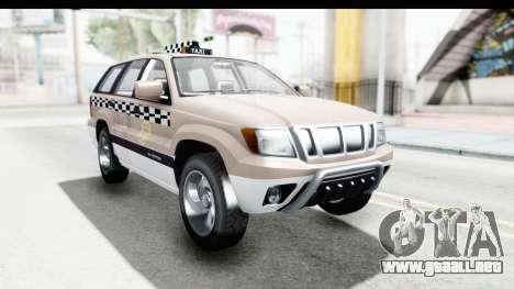 GTA 5 Canis Seminole Taxi Saints Row 4 para GTA San Andreas vista posterior izquierda