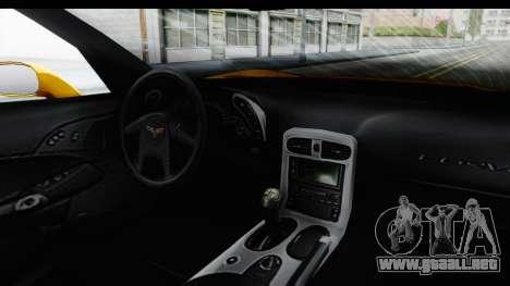 NFS Carbon Chevrolet Corvette para visión interna GTA San Andreas