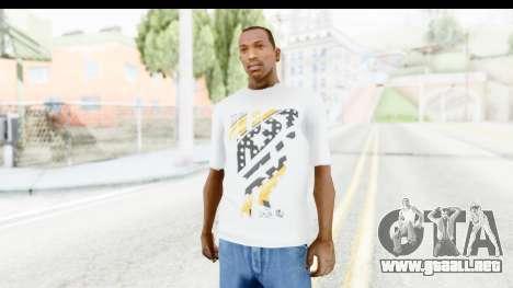 Nike Kyrie Notebook T-Shirt para GTA San Andreas
