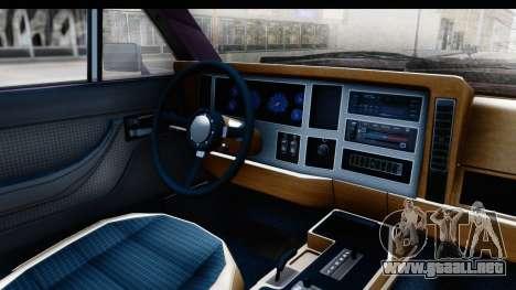 Jeep Grand Wagoneer para GTA San Andreas vista hacia atrás