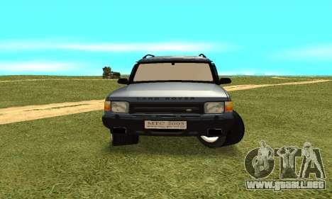 Land Rover Discovery 2B para GTA San Andreas vista hacia atrás