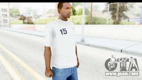 Stussy White T-Shirt para GTA San Andreas segunda pantalla