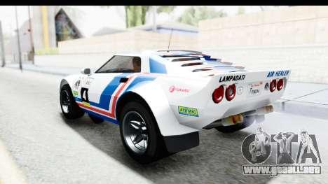 GTA 5 Lampadati Tropos SA Lights para la vista superior GTA San Andreas