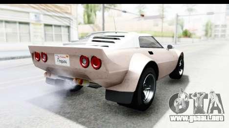 GTA 5 Lampadati Tropos SA Lights para GTA San Andreas left