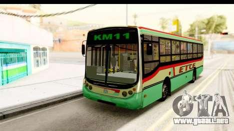 Metalpar Tronador 2 Puertas ETCE GTA Micros Arg para GTA San Andreas