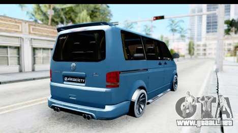 Volkswagen Caravelle para GTA San Andreas vista posterior izquierda