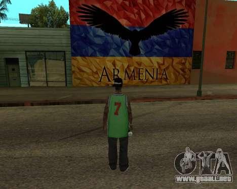 Grove Street Armenian Flag para GTA San Andreas segunda pantalla