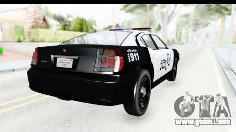 Sri Lanka Police Car v2 para GTA San Andreas left
