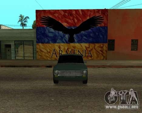 VAZ 2101 Armenian para la visión correcta GTA San Andreas