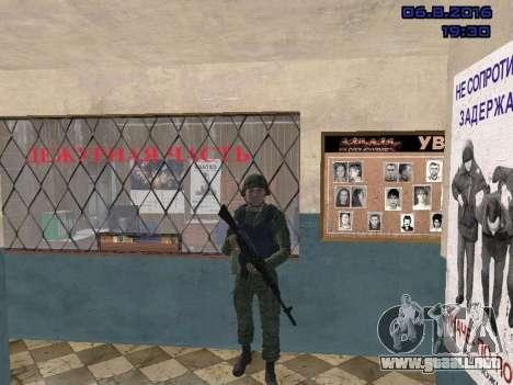 El conductor de la MIA para GTA San Andreas quinta pantalla