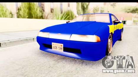 NFSU2 Tutorial Skyline Paintjob for Elegy para GTA San Andreas vista posterior izquierda