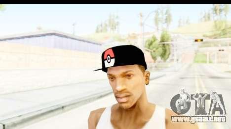 Cap Pokemon Pokeball para GTA San Andreas segunda pantalla