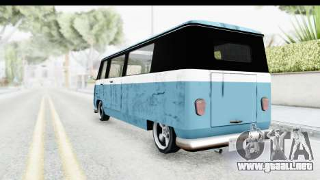 New Camper para GTA San Andreas vista posterior izquierda