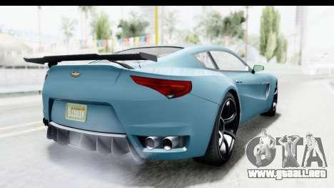 GTA 5 Dewbauchee Seven 70 with Mip Map para la visión correcta GTA San Andreas