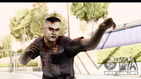 Left 4 Dead 2 - Zombie Policeman para GTA San Andreas