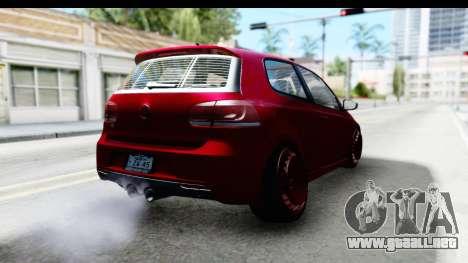 Volkswagen Golf R para GTA San Andreas left