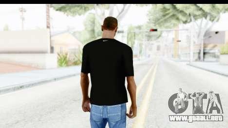 Nike MVP T-Shirt para GTA San Andreas tercera pantalla