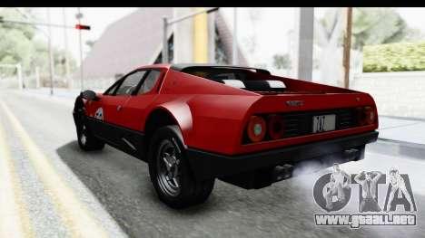 Ferrari 512 GT4 BB 1976 para vista inferior GTA San Andreas