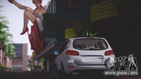 Hyundai Santa Fe Stock para GTA San Andreas vista hacia atrás