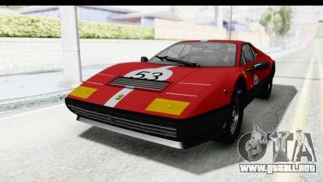 Ferrari 512 GT4 BB 1976 para la vista superior GTA San Andreas