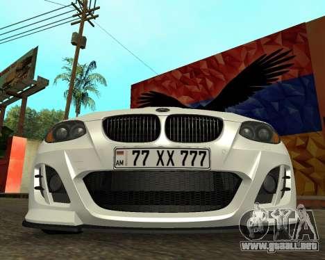 BMW M3 Armenian para GTA San Andreas vista hacia atrás