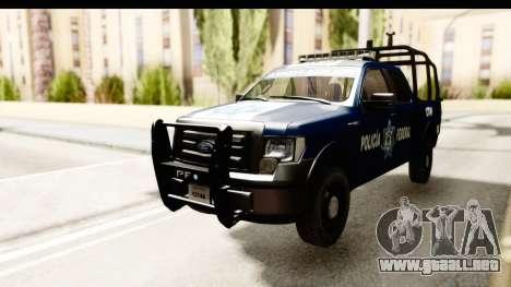 Ford F-150 Federal Police para GTA San Andreas vista posterior izquierda