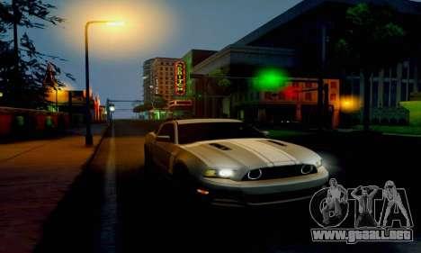 Ford Mustang para GTA San Andreas vista posterior izquierda