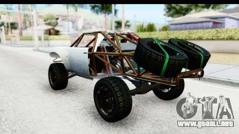 GTA 5 Trophy Truck SA Lights PJ para GTA San Andreas vista posterior izquierda