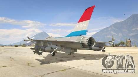 GTA 5 F-16XL USA cuarto captura de pantalla