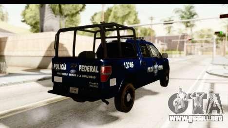 Ford F-150 Federal Police para la visión correcta GTA San Andreas