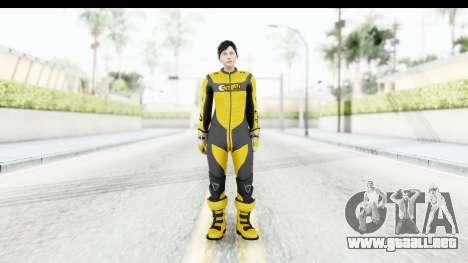 GTA 5 DLC Cunning Stuns Female Skin para GTA San Andreas segunda pantalla