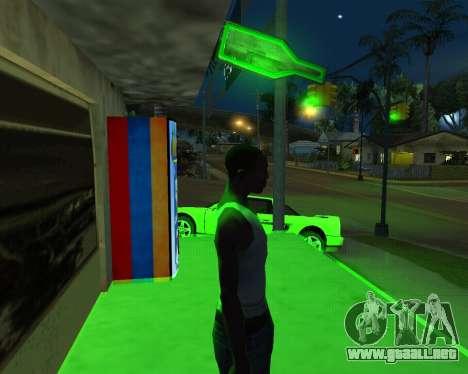 Nueva automática de Heno-Cola y la Bandera de ar para GTA San Andreas segunda pantalla