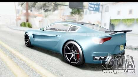 GTA 5 Dewbauchee Seven 70 with Mip Map para GTA San Andreas left