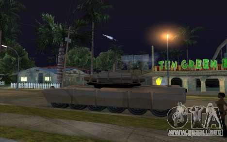 El efecto de disparo de tanque para GTA San Andreas segunda pantalla