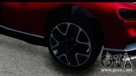 Bugatti Chiron 2017 v2 para GTA San Andreas vista hacia atrás