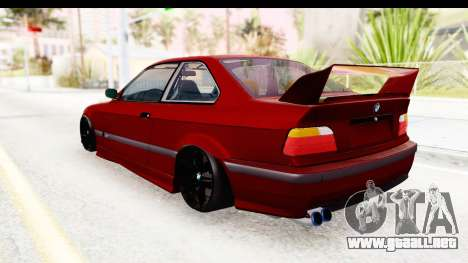 BMW M3 E36 Spermatozoid Edition para GTA San Andreas left
