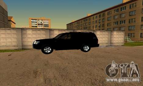 Toyota Land Cruiser 100 para GTA San Andreas vista posterior izquierda