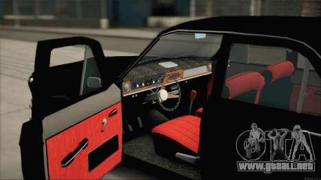 GAS 24 Nobles para GTA San Andreas vista hacia atrás