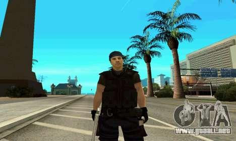Entrenador de SWAT para GTA San Andreas sucesivamente de pantalla
