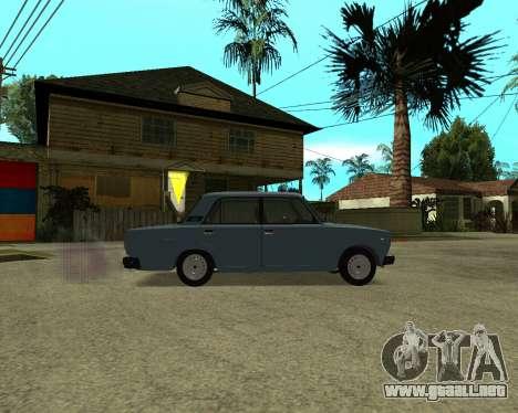 VAZ 2107 Armenian para vista inferior GTA San Andreas