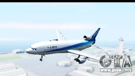 Lockheed L-1011-100 TriStar All Nippon Airways para GTA San Andreas vista posterior izquierda