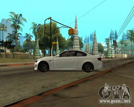 BMW M3 Armenian para vista lateral GTA San Andreas