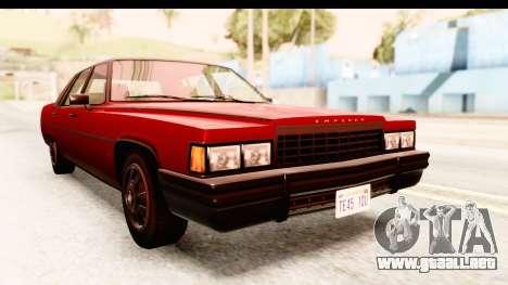GTA 5 Albany Emperor IVF para la visión correcta GTA San Andreas