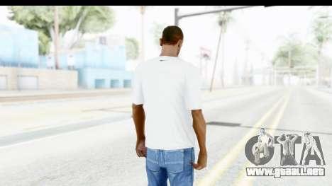 Nike Kyrie Notebook T-Shirt para GTA San Andreas tercera pantalla