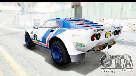 GTA 5 Lampadati Tropos Rallye IVF para las ruedas de GTA San Andreas