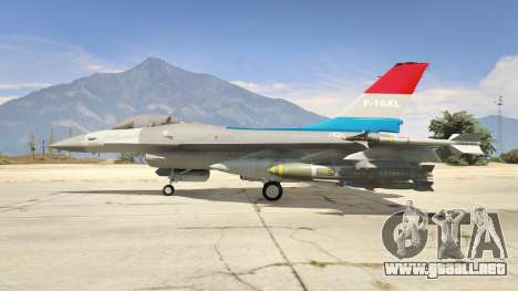 GTA 5 F-16XL USA tercera captura de pantalla