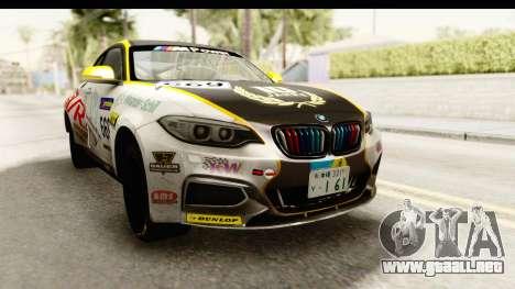 BMW M235i Coupe para la visión correcta GTA San Andreas