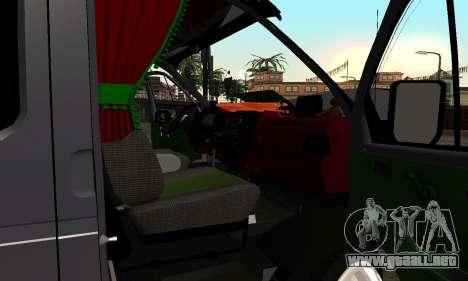 GAZelle 33023 Agricultor para la vista superior GTA San Andreas
