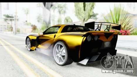 NFS Carbon Chevrolet Corvette para GTA San Andreas left