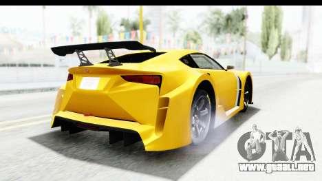 GTA 5 Emperor ETR1 v2 SA Lights para GTA San Andreas vista hacia atrás